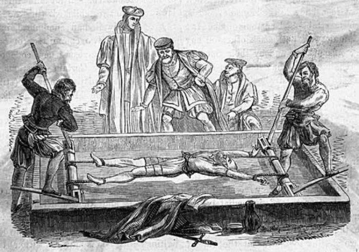 Instrumente de tortura - patul