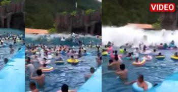 """44 de răniți într-un """"tsunami de piscină"""" declanșat accidental în China"""