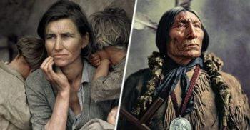 Istoria în culori: 17 fotografii istorice faimoase care au fost colorizate