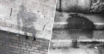 Umbrele de la Hiroshima, siluetele oamenilor pulverizați de bomba atomică
