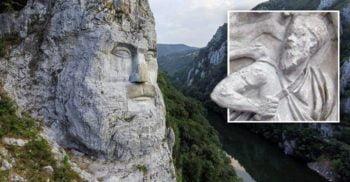 Chipul lui Decebal, cea mai înaltă sculptură în piatră din Europa