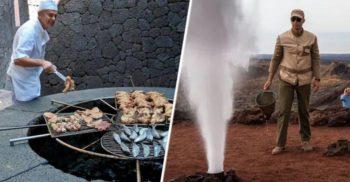 Acest restaurant prepară mâncarea deasupra unui vulcan