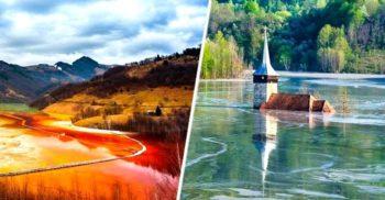 Geamăna, satul din Munții Apuseni acoperit de un lac toxic