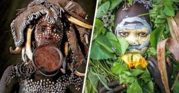 Pânzele umane: Picturile corporale ale triburilor din Valea Omo