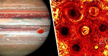Furtunile inexplicabile de pe Jupiter: Cicloanele s-au unit într-un hexagon hipnotizant