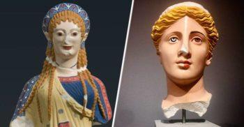 Măreția regăsită a artei străvechi: Culorile magnifice ale statuilor antice