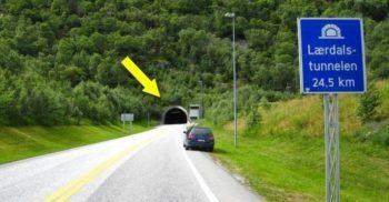 Tunelul Laerdal: cel mai lung tunel rutier din lume