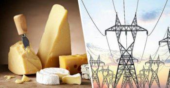 În Alpii francezi, o centrală electrică generează curent din brânză