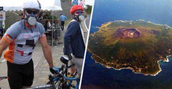 Dacă vrei să trăiești în Miyake-jima, trebuie să ai mereu la tine o mască de gaze