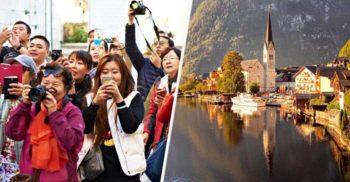 Instagram distruge un sat de basm Austria, luat cu asalt de hoarde de turiști din Asia