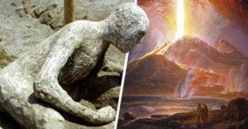 La erupția Vezuviului, creierul unei victime a fost transformat în sticlă