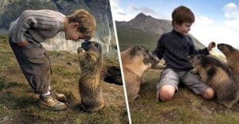Matteo Walch, copilul care s-a împrietenit cu o colonie de marmote