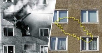 """Tragedia din Cottbus: MiG-ul care s-a """"înfipt"""" într-un bloc de apartamente"""