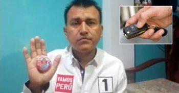 Împărțind brelocuri în campania electorală, un politician a dat cuiva din greșeală și cheia propriei mașini
