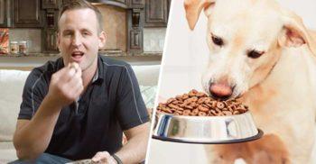 S-a hrănit cu mâncare pentru câini timp de 30 de zile ca să-i facă reclamă companiei sale