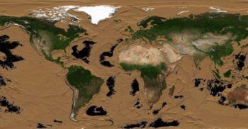 Cum ar arăta Pământul dacă mările și oceanele s-ar evapora