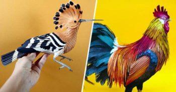 Păsările de hârtie ultrarealiste ale Dianei Beltran Herrera