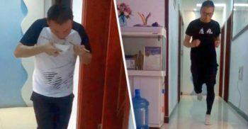 Un maratonist chinez în carantină a alergat 50 de kilometri în apartamentul său