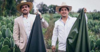 """Doi mexicani au creat """"pielea"""" vegetală din frunze de cactus"""