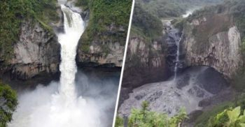 Cea mai mare cascadă din Ecuador a dispărut peste noapte
