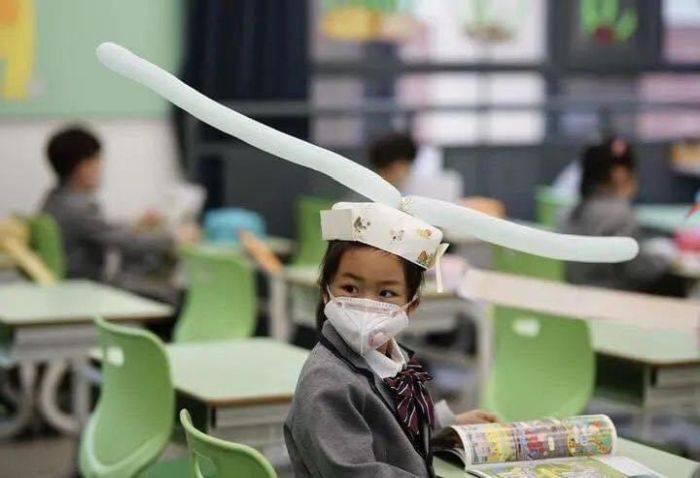 Elevi China distantare sociala 01
