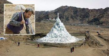 Ghețarii făcuți de mâna omului: stupele de gheață din deșert