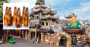 Linh Phuoc, templul vietnamez construit din 12.000 de sticle de bere
