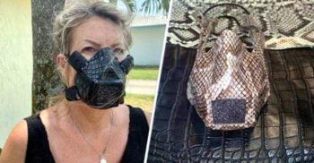 Apărarea reptiliană: O companie a lansat măștile faciale din piele de șarpe