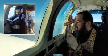 Republica Moldova, sfințită din avion ca protecție împotriva coronavirusului