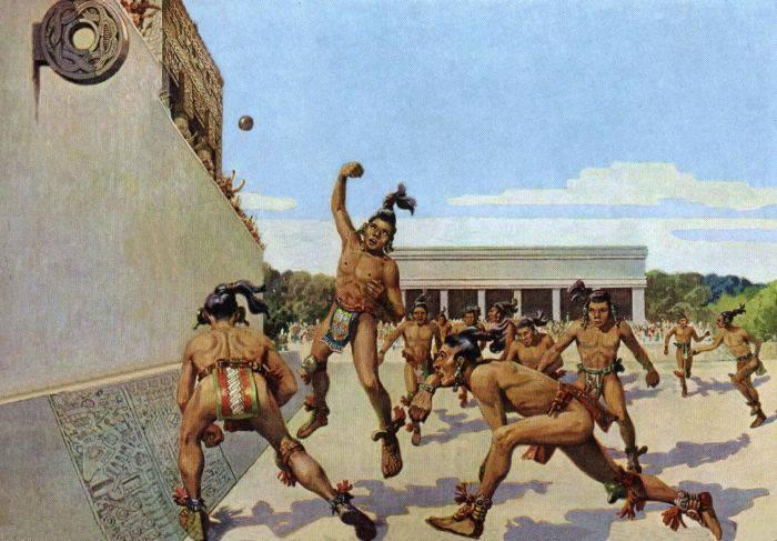 Azteci jocul cu mingea de cauciuc