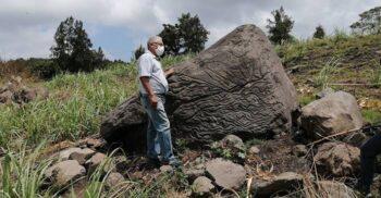 """""""Hartă vulcanică"""" veche de 2.000 de ani, descoperită în Mexic"""