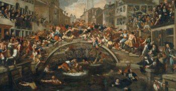 Războaiele pumnilor: Bătăile organizate de pe podurile din Veneția