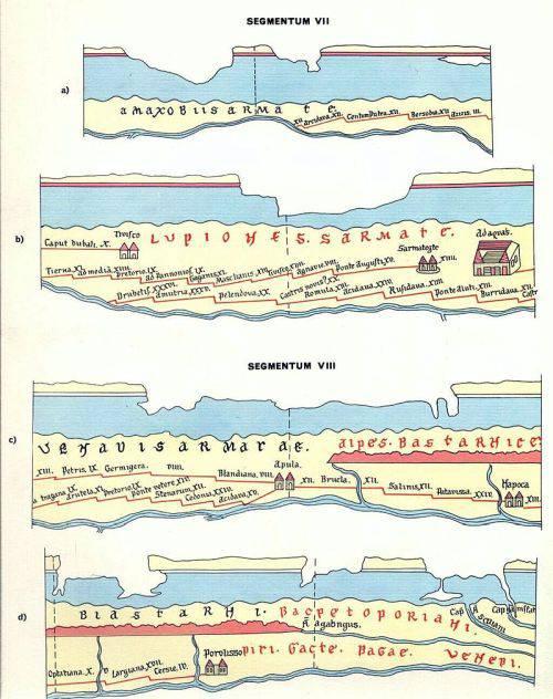 Tabula Peutingeriana, harta rutieră de 7 metri a Imperiului Roman