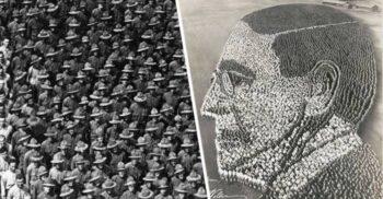 """""""Tablourile vii"""" ale lui Arthur Mole: Imagini de propagandă din 30.000 de oameni"""