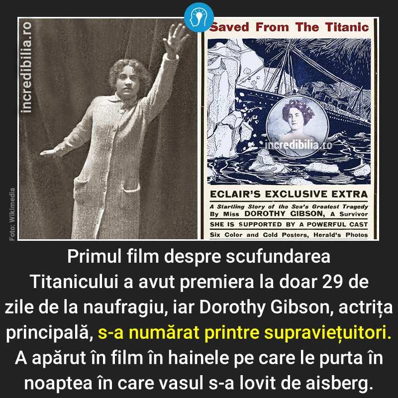 379. primul film despre sfufundarea titanicului