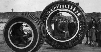Dynasphere, mașina care arăta ca o roată de hamster gigantică