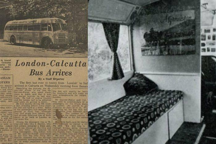 Londra Calcutta autocar 2