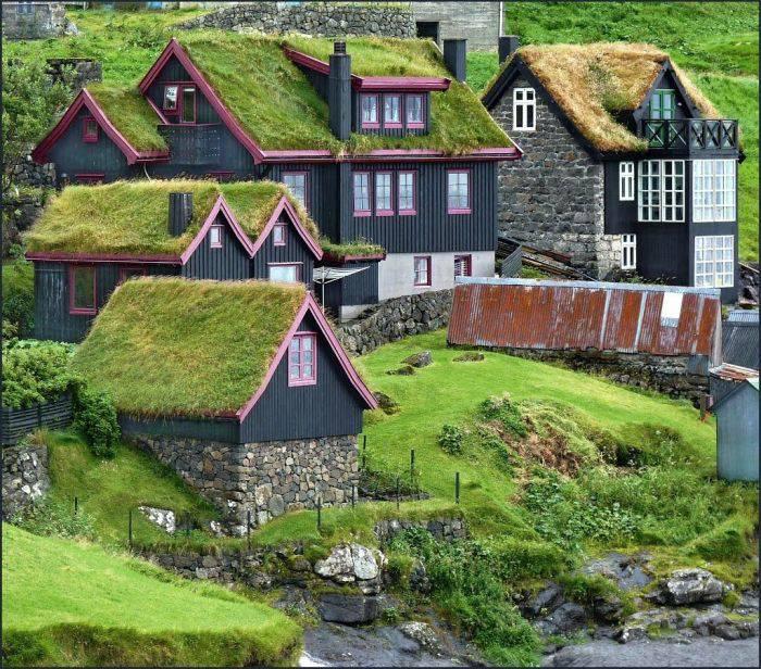 Curiozitati despre Insulele Feroe - Case