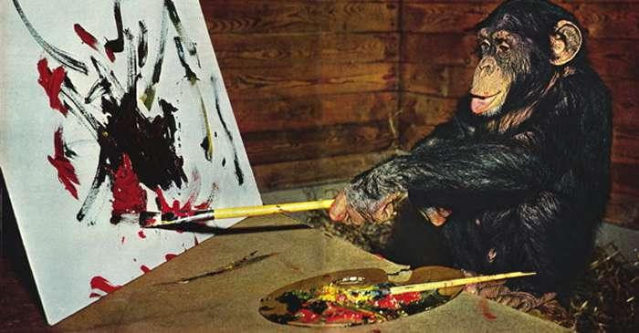 """Pierre Brassau, cimpanzeul care """"și-a bătut joc"""" de criticii de artă featured_compressed"""