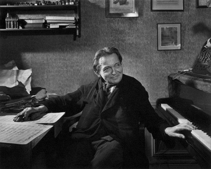 George Enescu la batranete