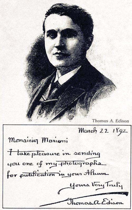 Vin Mariani - Thomas Edison