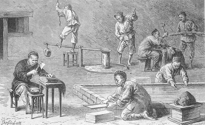 Istoria hartiei - Fabrica