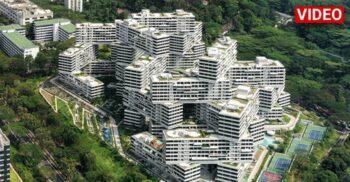 Împletitura, cartierul cu 31 de blocuri stivuite unul peste altul