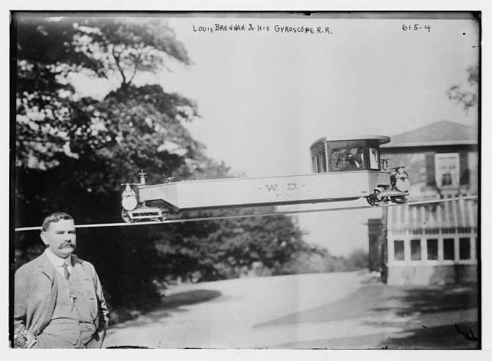 Louis Brennan si trenul giroscopic