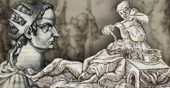 Valerian, împăratul roman căruia perșii i-au turnat pe gât aur topit
