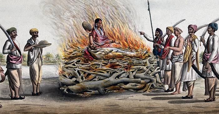 De ce femeile hinduse își dădeau foc când rămâneau văduve Sati, un ritual întunecat