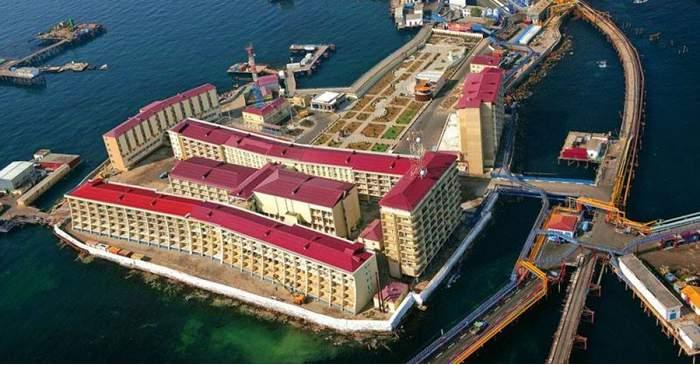 Neft Dașlari, orașul plutitor construit pe platforme petroliere