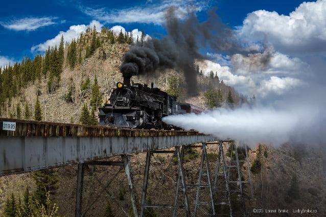 cele mai periculoase căi ferate din lume - Calea Ferata Cumbres and Toltec