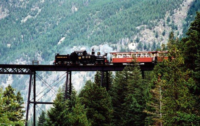 cele mai periculoase căi ferate din lume - Calea Ferata Georgetown Loop