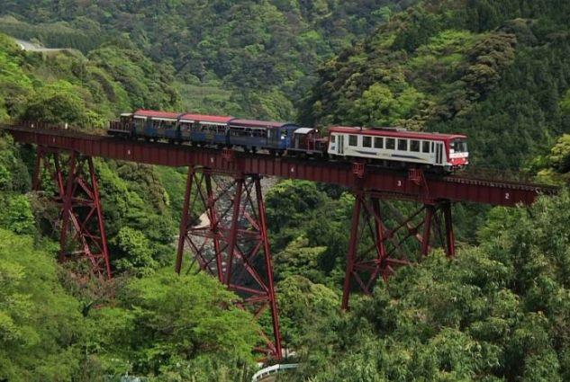 cele mai periculoase căi ferate din lume - Calea Ferata Minami Aso